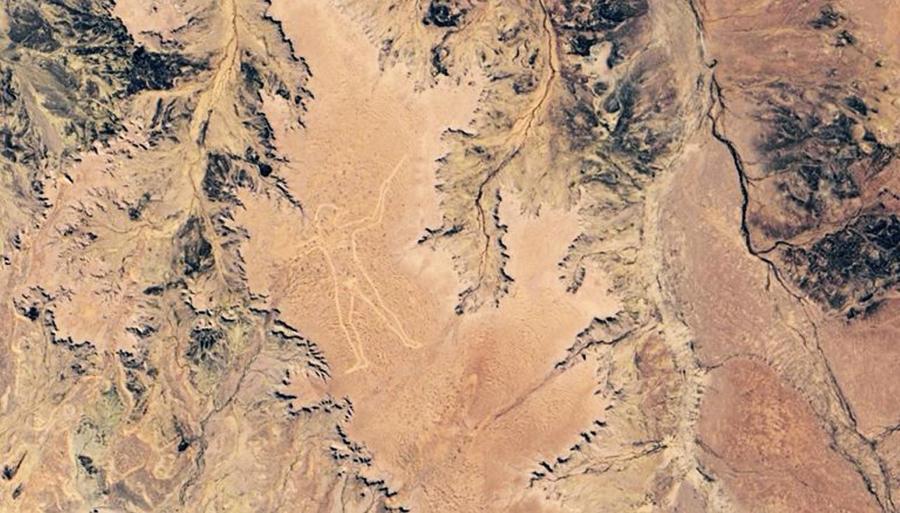 NASA發佈澳洲神秘「馬裏人」地畫衛星圖