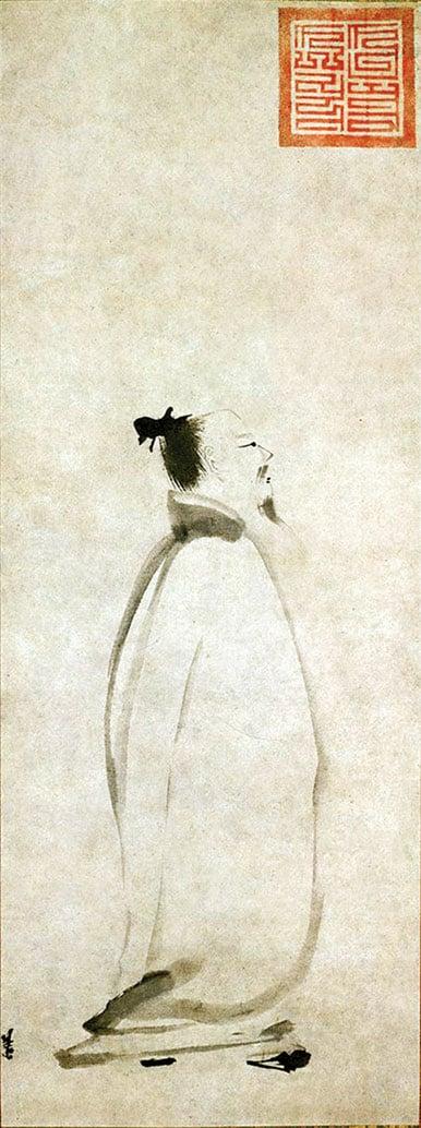 唐朝詩人李白,他寫的《蜀道難》是中國樂府詩中最著名的作品,其中廣為流傳的一句就是:「蜀道之難,難於上青天!」圖為南宋畫家梁楷所繪的《太白行吟圖》。(公有領域)
