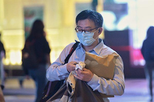 圖為戴口罩的香港市民(宋碧龍/大紀元)