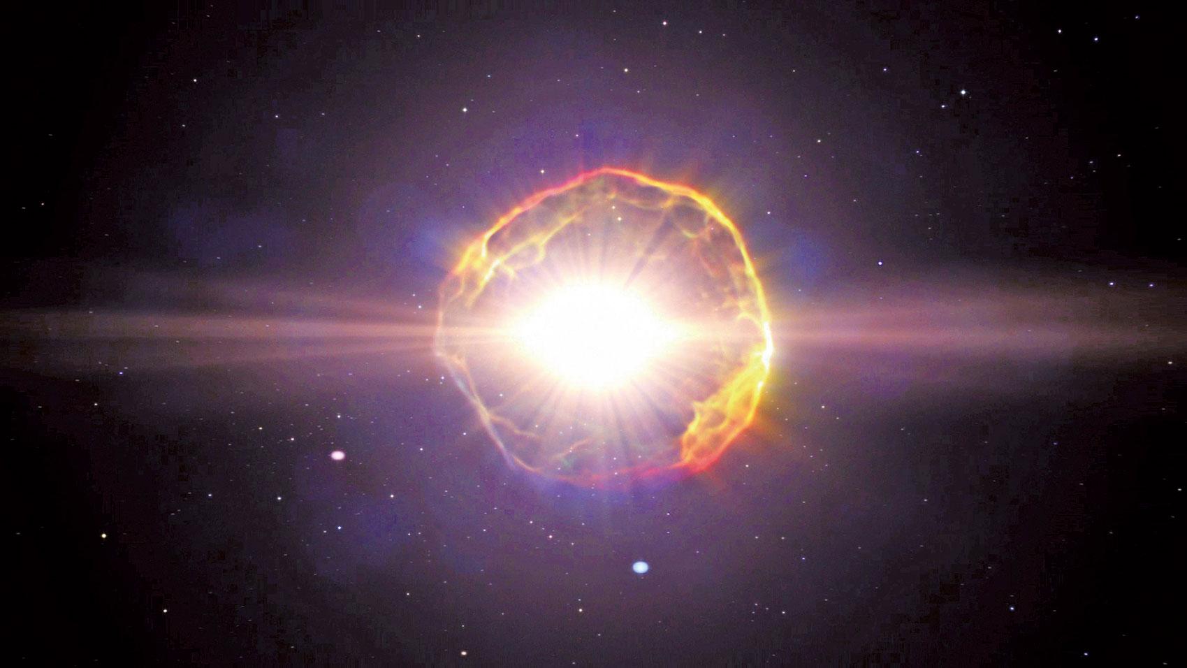 超新星示意圖。(NASA)