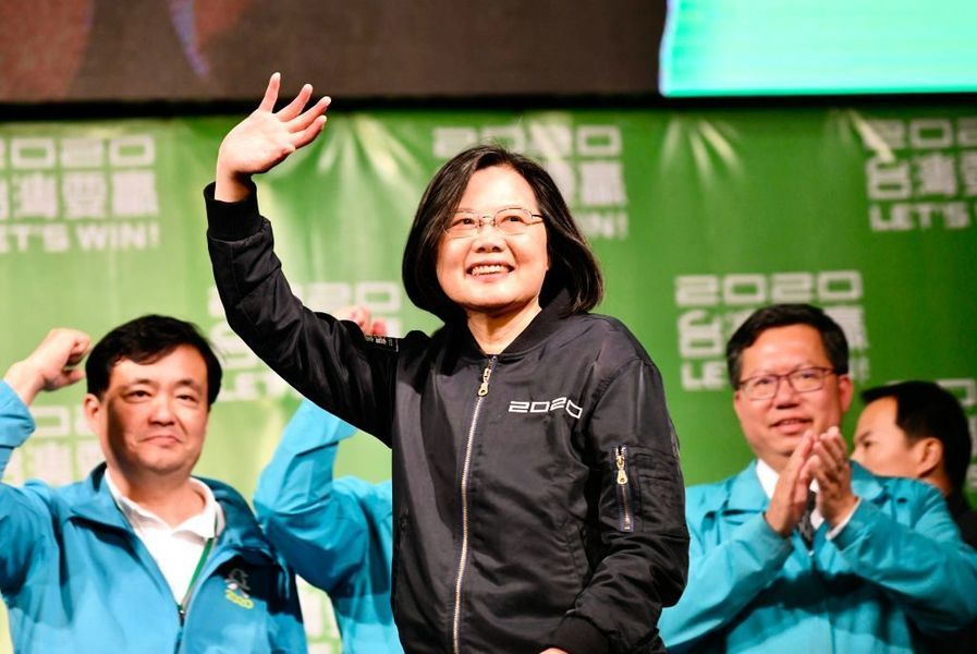 2020台灣大選 現任總統蔡英文成功連任