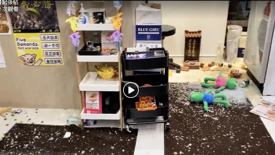灣仔黃店被破壞 警稱涉金錢糾紛