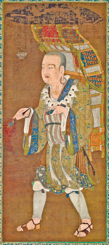 《玄奘西行圖》,東京國立博物館藏。 (公有領域)