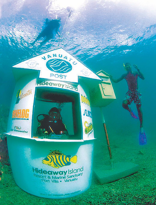 在瓦努阿圖,不能錯過獨一無二的海底郵局。