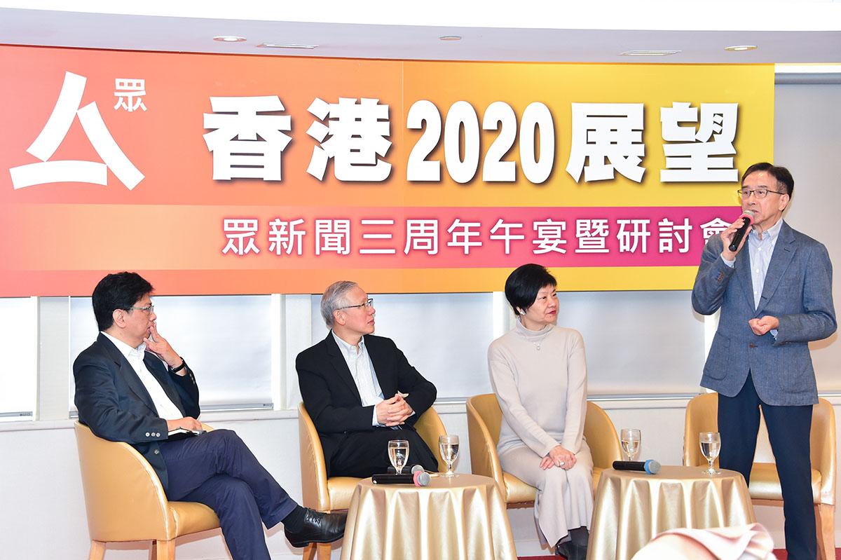 田北俊昨出席一個論壇時,坦言支持「光復香港」,回到1997年香港高度自治的年代。(郭威利/大紀元)