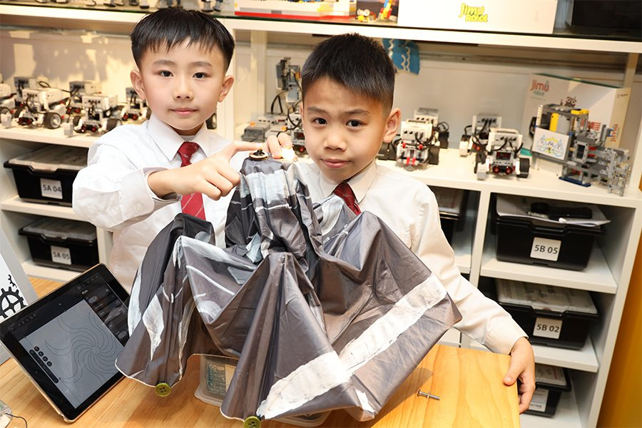 仁濟醫院蔡衍濤小學作品:智能太陽傘。(主辦機構提供)
