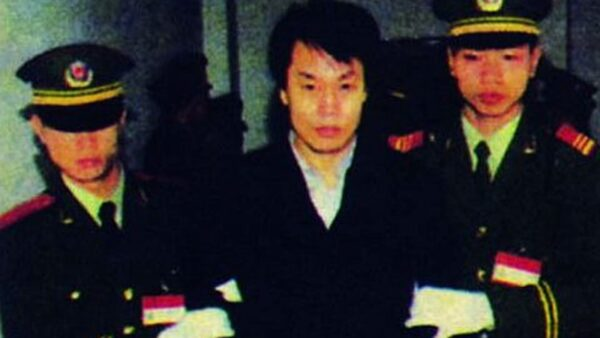 張子強被判處死刑,押赴刑場執行槍決的情景。(網絡圖片)