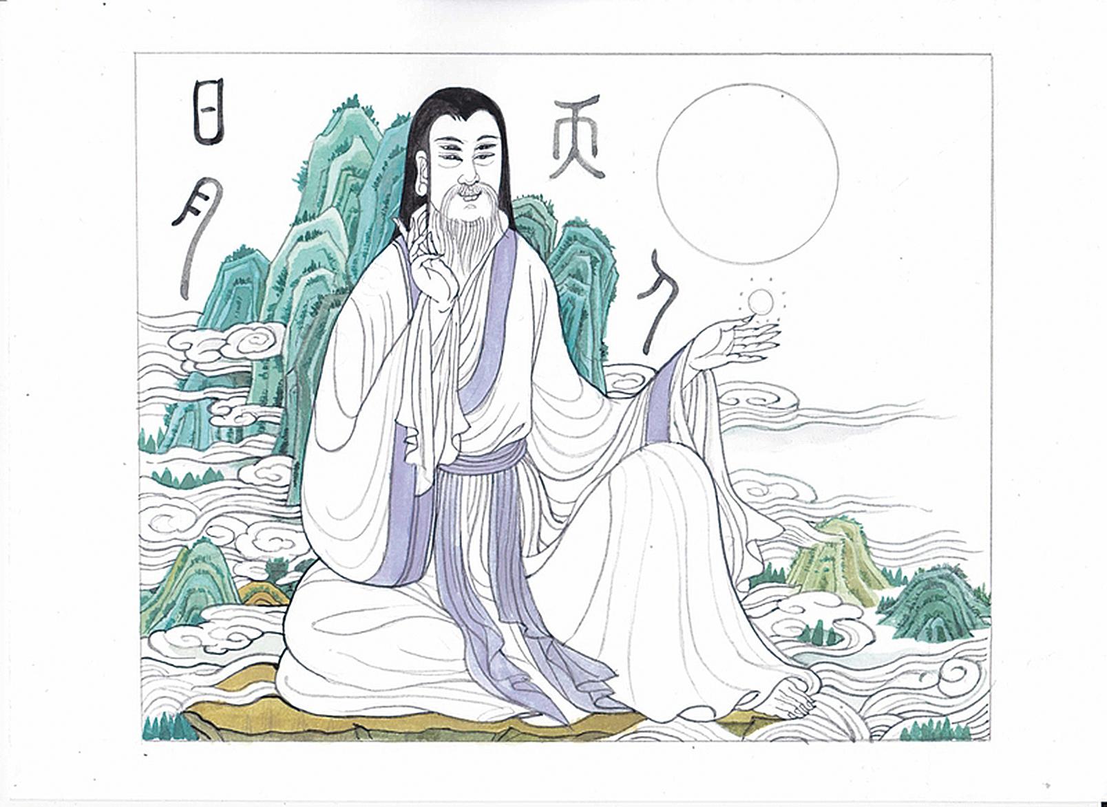 倉頡像(素惠/大紀元)