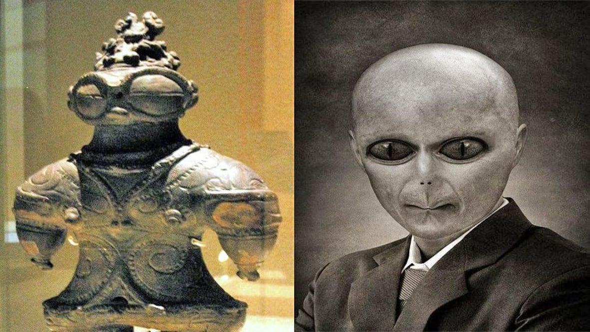 外星人從遠古時期就來到地球。(希望之聲合成)