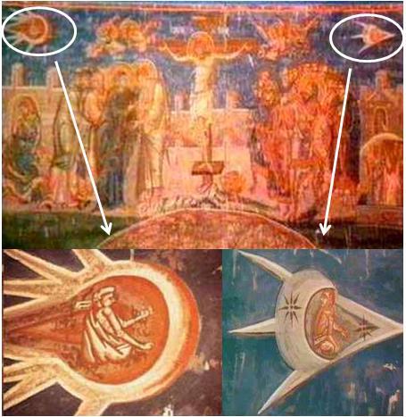 這幅畫掛在南斯拉夫科索沃Visoki Decani Monestary聖壇上。(public domain)