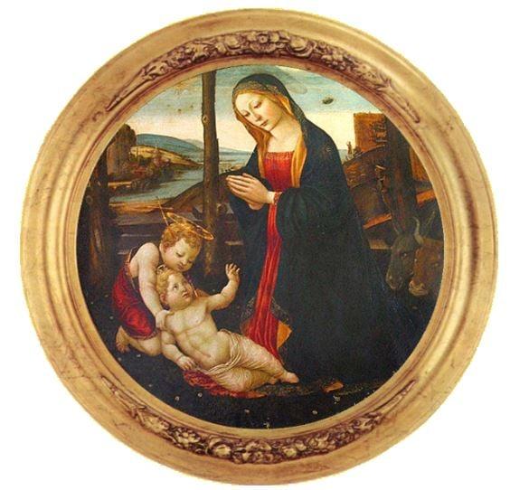 聖母與聖吉凡尼諾。(public domain)