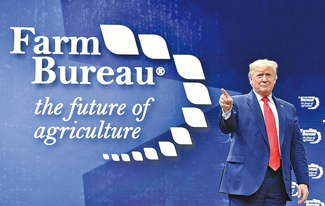 1月19日,特朗普表示,與中國簽署的初步貿易協議將為農民帶來福音,並感謝農民的堅持。(AFP)