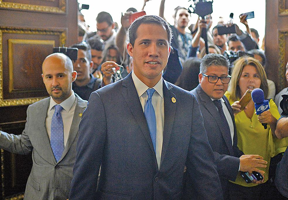 2019年9月17日,委內瑞拉國民議會批准瓜伊多(Juan Guaido )擔任該國臨時總統。(AFP)