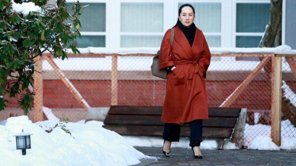 當地時間1月17日,孟晚舟現身卑詩省最高法院。(Jeff Vinnick/Getty Images)
