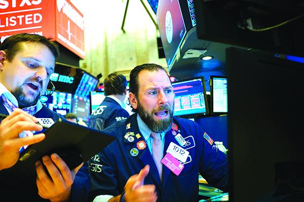 1月21日全球股市下跌。圖為紐約證券交易所。(Getty Images)