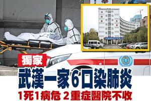 【獨家】武漢一家6口染肺炎 1死1病危 2重症醫院不收