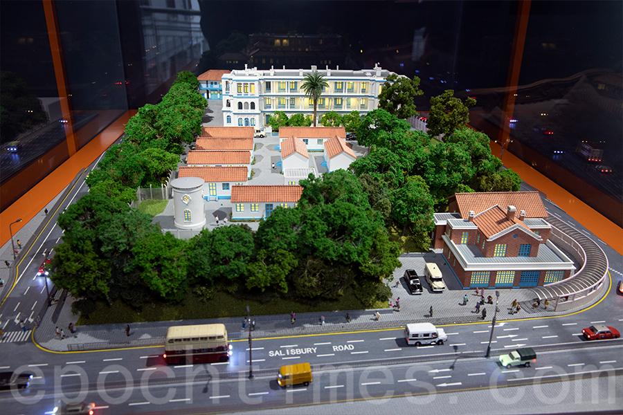 前水警總部的「1881公館」微縮模型。(陳仲明/大紀元)