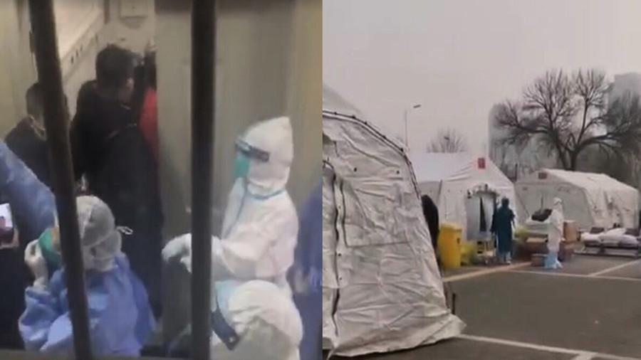 網民冒死偷拍武漢醫院 真實情況令人心寒