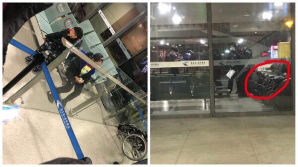 南京祿口國際機場發生父母拋下2個孩子,自己卻搭機飛走了離譜事件。(微博圖片)