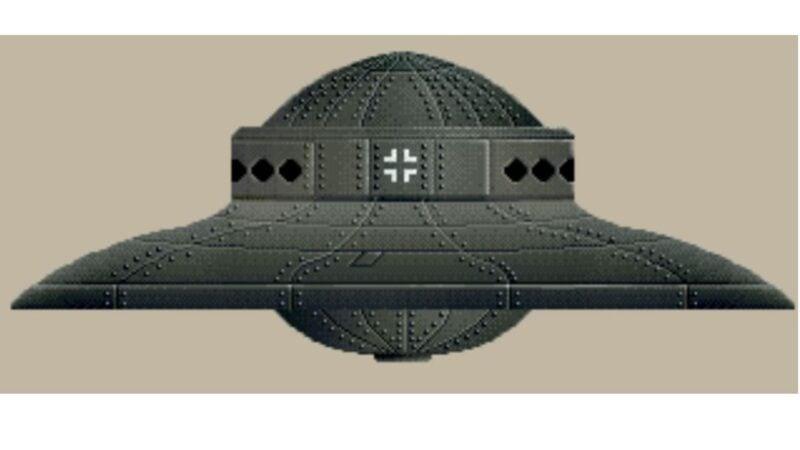 納粹UFO外形(public domain)
