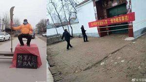 「關大刀」堵路 中國各地防疫五花八門