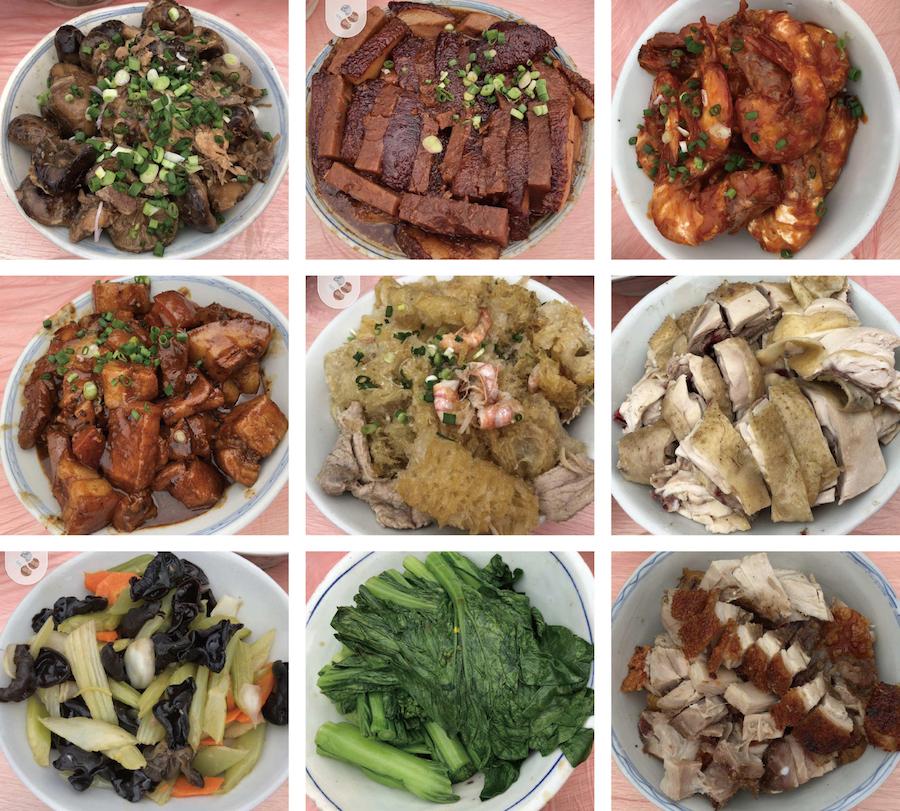 沙頭角慶春約每年也會在黃曆新年期間舉辦春茗活動,分享「九大簋」。(曾玉安提供)