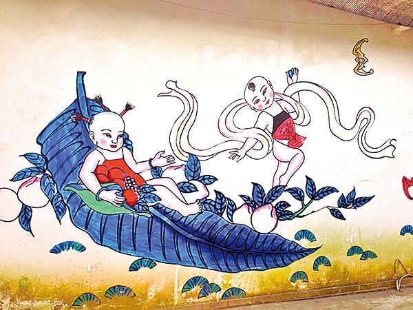 綿竹年畫村壁畫(平林/Wikimedia Commons)
