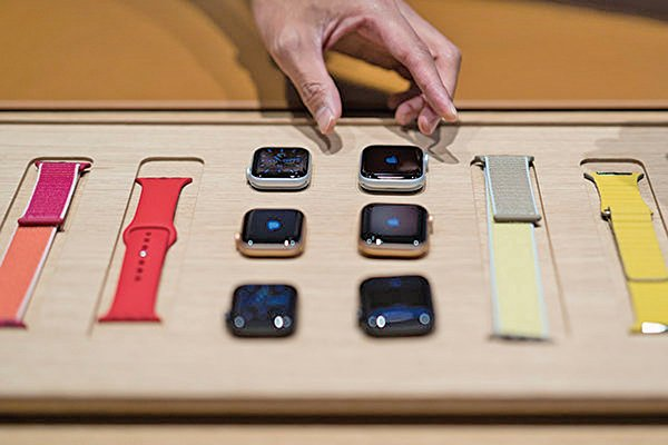 AirPods和Apple Watch銷售強勁,激勵蘋果股價大幅上漲。(Getty Images)