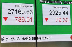 武漢疫情衝擊港股大跌近800點