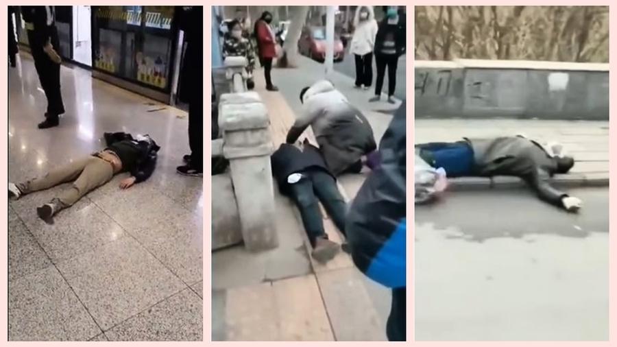 中共肺炎恐怖直擊:各地民眾突然倒地(影片)