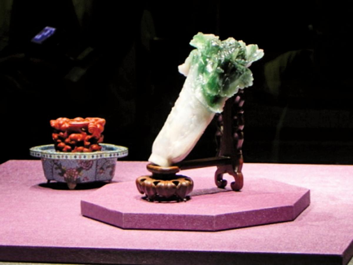 國寶「翠玉白菜」,台北故宮博物館藏。(蔡上海/大紀元)