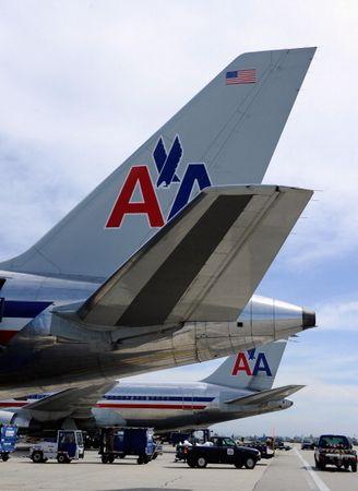 洛杉磯機場的美國航空(American Airlines)飛機(Photo by Kevork Djansezian/Getty Images)