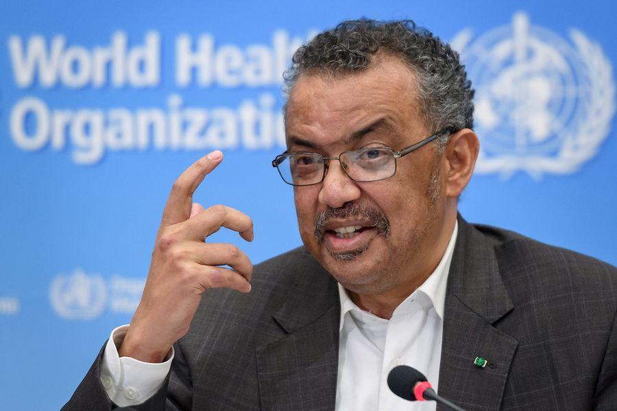 世界衛生組織(WHO)周四(1月30日)宣佈,源於武漢的新型冠狀病毒(中共病毒)為「國際關注的公共衛生緊急事件」(Public Health Emergency of International Concern,簡稱PHEIC)。圖為世衛組織總幹事譚德塞(Tedros Adhanom Ghebreyesus)。(FABRICE COFFRINI/AFP)