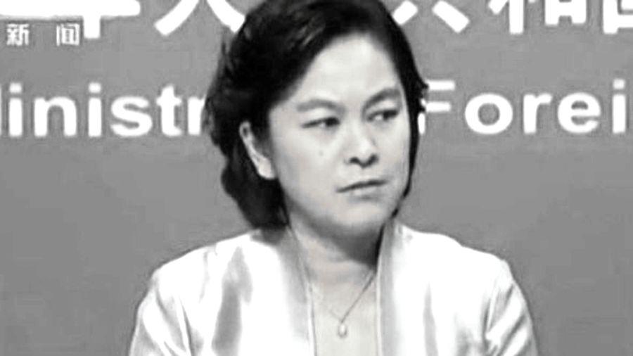 有女袁木之稱的中共外交部發言人華春瑩,跳腳痛批美國「不厚道」。(影片截圖)