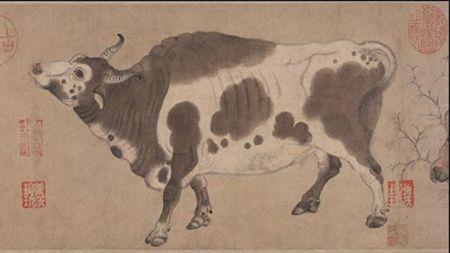 唐代韓滉〈五牛圖〉局部。(公有領域)