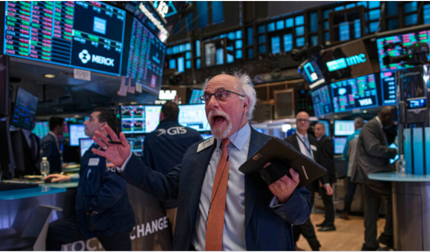 A trader reacts as he works on the floor of the New York Stock Exchange (NYSE) in New York City on Jan. 10, 2020. (Kena Betancur/Getty Images)