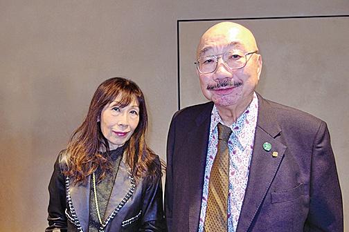 洛和會理事長矢野一郎醫學博士夫婦。(張本真/大紀元)
