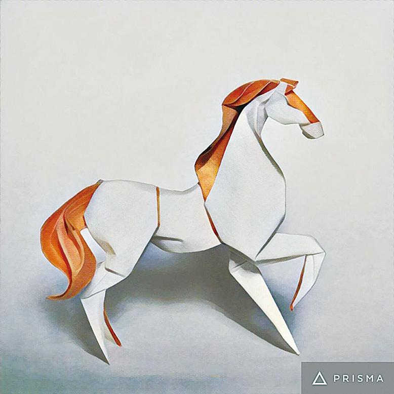 藝術家使用的是Arches水彩紙180 gsm.,採用濕摺法,讓動物呈現出雕塑立體感,作品大約高90毫米,整體造型形象生動。