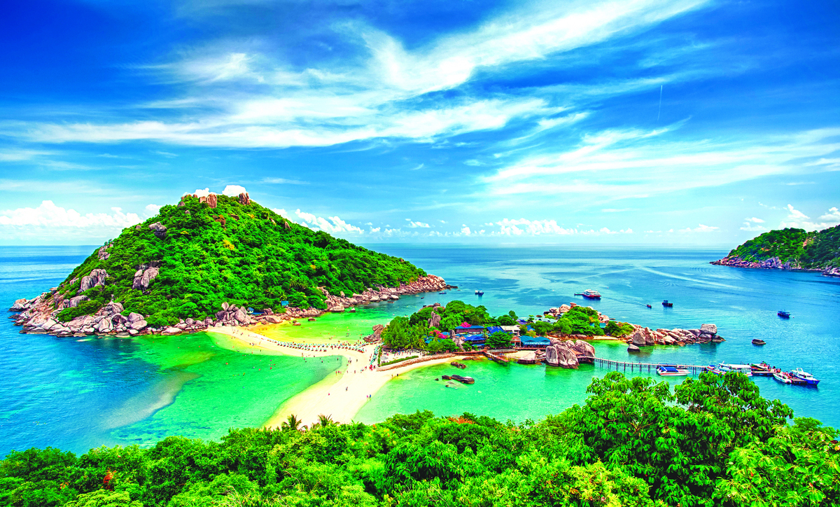奈島有著迷人的海島美景。