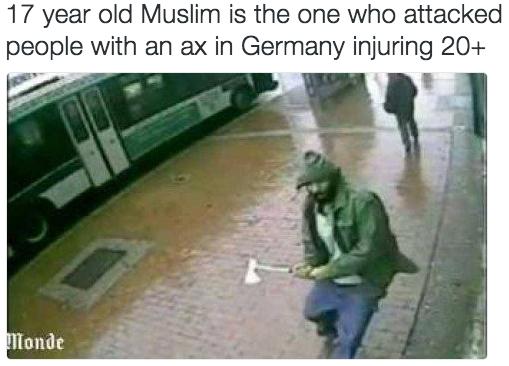 德國列車兇案 男子揮斧砍人被擊斃