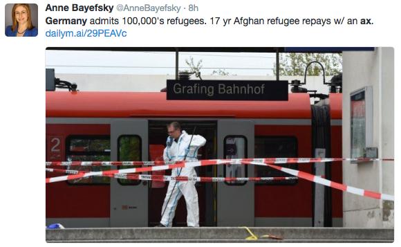 德國列車砍人事件 四港人受傷