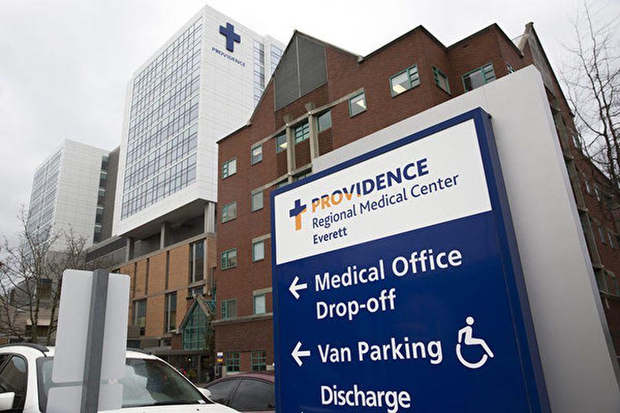 埃弗里特普羅維登斯地區醫療中心(Providence Regional Medical Center Everett,圖)2月3日在一份聲明中說,美國首例確診武漢中共病毒病例是一名三十多歲的男子,已經出院。(Jason Redmond/AFP)