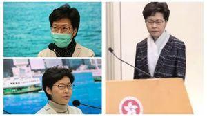 網傳林鄭做淋巴癌手術 神情憔悴著裝異常