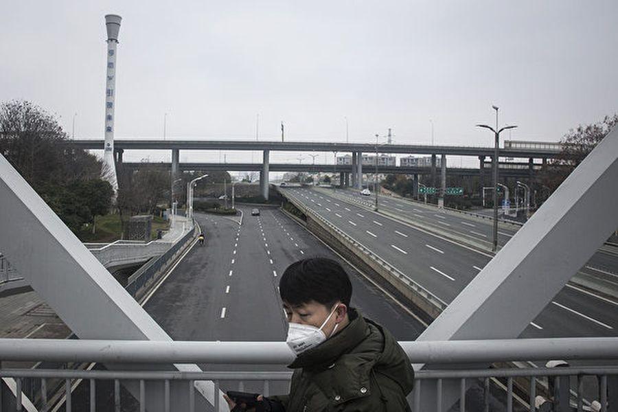 繼湖北武漢等多個城市封城後,浙江樂清市也宣佈暫時關閉交通、所有企業一律停工。圖為目前的武漢,街道空蕩,宛如空城。(Getty Images)