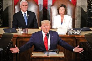 大選前的國情咨文 特朗普讚美國復興 經濟強勁