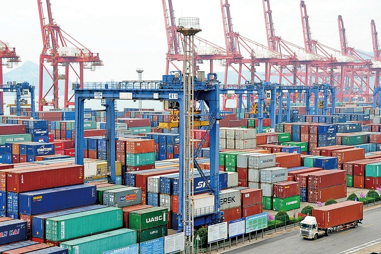白宮經濟顧問庫德洛2月4日說,中國疫情可能會影響中美第一次貿易協議,但影響不大。圖為中國連雲港。(Getty Images)