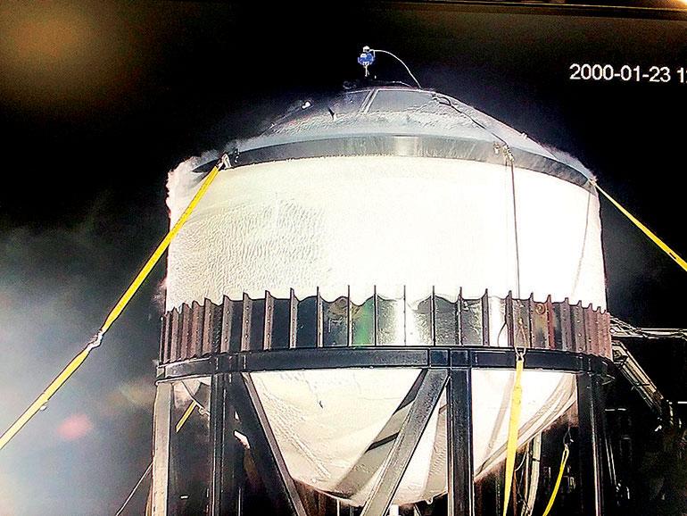SpaceX星際飛船燃料箱壓力測試過關