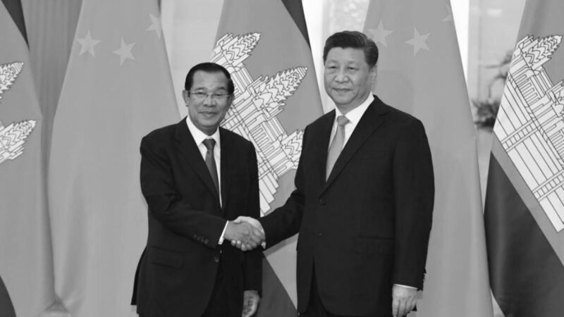 圖為中國國家主席習近平2019年4月29日在北京大會堂與柬埔寨總理洪森會面。(Madoka Ikegami - Pool/Getty Images)