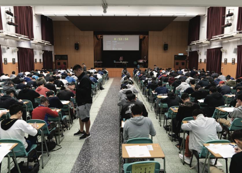 香港中學文憑試中文科卷一試場。(考評局提供)