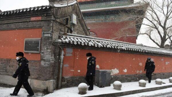 中共肺炎疫情攻入北京機關大院和部隊大院,有紅二代及家屬感染隔離。(GREG BAKER/AFP via Getty Images)